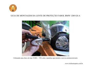 guia de montagem da lente de proteção farol bmw ... - Trail Moto Parts