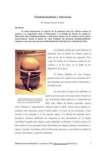 Fundamentalismo y tolerancia - EIKASIA - Revista de Filosofía