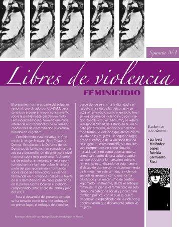 Conoce más sobre el feminicidio - Flora Tristán