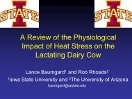 Effects of Heat Stress on Lactating Dairy Cattle - Iowa State ...