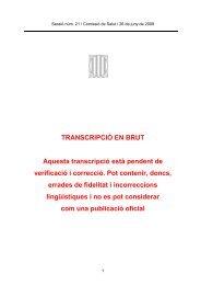 TRANSCRIPCIÓ EN BRUT Aquesta transcripció està pendent de ...