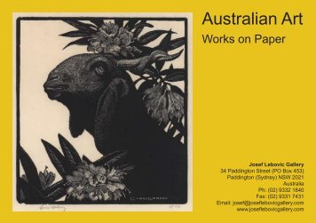 Australian Art - Josef Lebovic Gallery