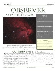 HiRes Color 10MB - the Denver Astronomical Society