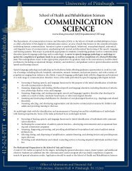 Pre-Communication Science - University of Pittsburgh ...