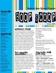 boop scoop - Bowman Open Optional Program