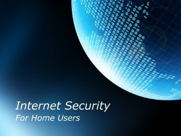 Download the Internet Security presentation