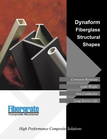Dynaform Fiberglass Structural Shapes - Fibergrate