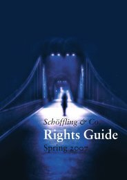 Rights Guide - Schöffling & Co.