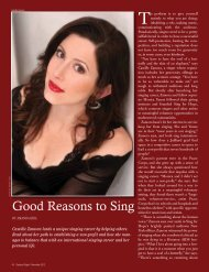 Good Reasons to Sing - Sing for Hope