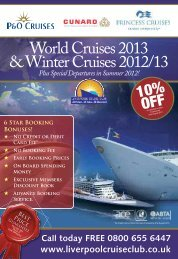 World Cruises 2013 & Winter Cruises 2012/13 - Traveltek