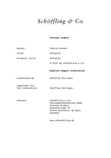 English sample translation (pdf) - Schöffling & Co.