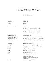 English sample translation - Schöffling & Co.