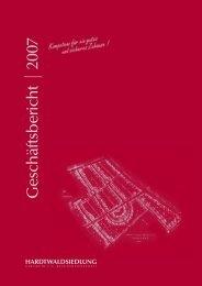 Geschäftsbericht 2007 - Hardtwaldsiedlung Karlsruhe ...