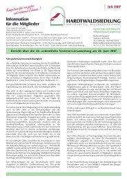 Mitgliederinformation Juli 2007  - Hardtwaldsiedlung Karlsruhe ...
