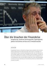 Über die Ursachen der Finanzkrise - Justus-Liebig-Universität Gießen
