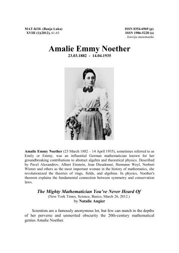 Amalie Emmy Noether
