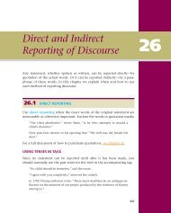 Direct and Indirect Reporting of Discourse - WW Norton & Company