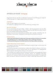 APPENZELLER RASEN Verlegung - Tisca Tiara
