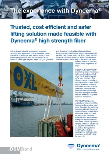 The experience with Dyneema® - The Unitex Group