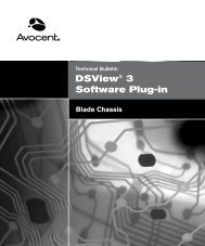 DSView® Software Plug-in for Blade Chassis - Emerson Network ...