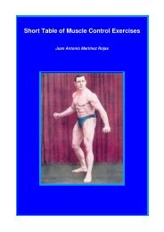 Short Table Of Muscle Control Exercises – The Maxalding