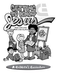 A Children's Curriculum - Christian and Missionary Alliance