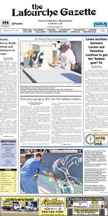 Wednesday, October 31, 2012 - The Lafourche Gazette