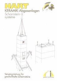 Geschosshohe Schornsteine - Hart Keramik
