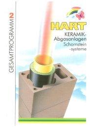 Gesamtlieferprogramm Schornsteinsystem ... - Hart Keramik