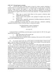 G.S. 54c-167 Page 1 § 54C-167. Personal agency accounts. (a) A ...