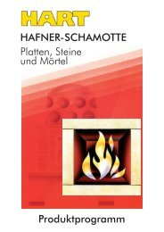 Produktprogramm HAFNER-SCHAMOTTE Platten  ... - Hart Keramik
