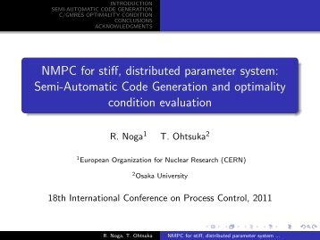 Download Presentation - Non-linear Model Predictive Control