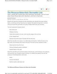 The Rosacea-Seborrheic Dermatitis Link - Derick Dermatology