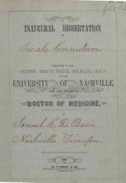 An inaugural dissertation on secale cornutum by Samuel C. D. Bain ...