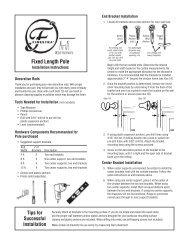 Fixed Length Pole - Finestra Decorative Hardware
