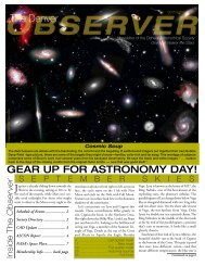 September 2007 - the Denver Astronomical Society