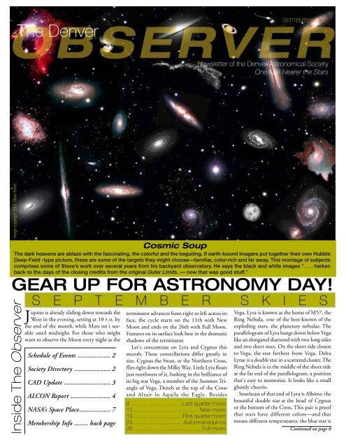 September 2007 - the Denver Astronomical Society