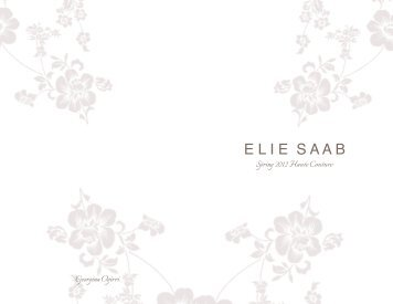 Elie Saab Spring 2012 Haute Couture Look Book