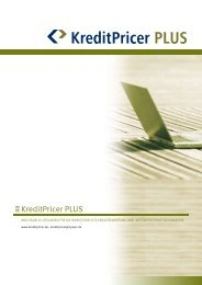 Produktblatt Kreditpricer Plus - 1 PLUS i Gmbh
