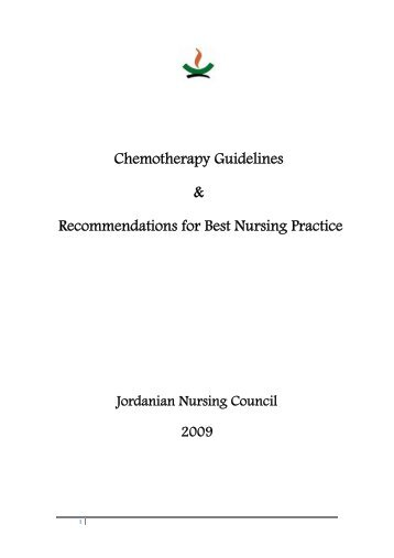 CHEMOTHERAPY ADMINISTRATION COURSE FOR NURSES c