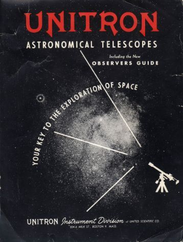 Unitron Telescope Catalog from 1956, 41 pages