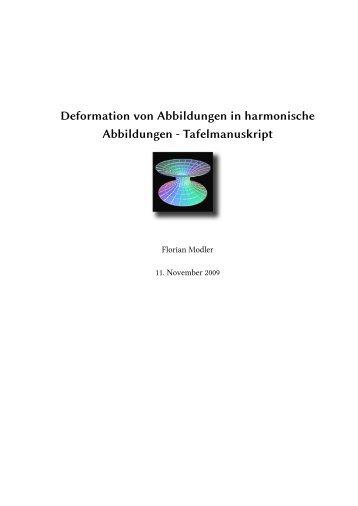 Deformation von Abbildungen in harmonische Abbildungen ...