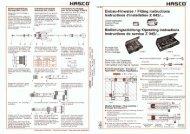 Einbau-Hinweise / Fitting instructions lnstructions d ... - Hasco