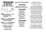 PROGRAMA D'ACTES - Colegio Sagrada Familia Valencia