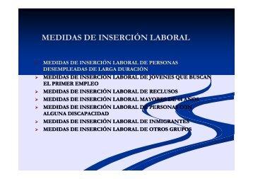 MEDIDAS DE INSERCIÓN LABORAL