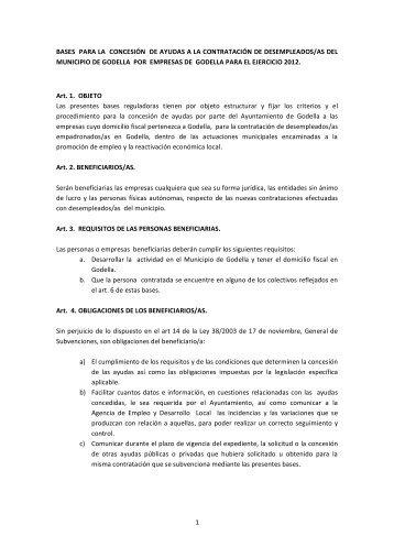 1 bases para la concesión de ayudas a la contratación de ...