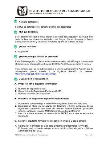 IMSS-02-021 Solicitud de certificado del derecho al retiro por ...