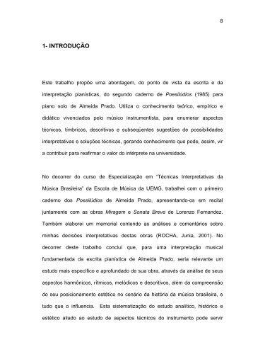 1- introdução - Biblioteca Digital de Teses e Dissertações da UFMG