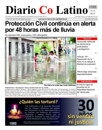Protección Civil continúa en alerta por 48 horas ... - Diario CoLatino