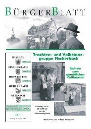 Trachten- und Volkstanz- gruppe Fischerbach - Haslach